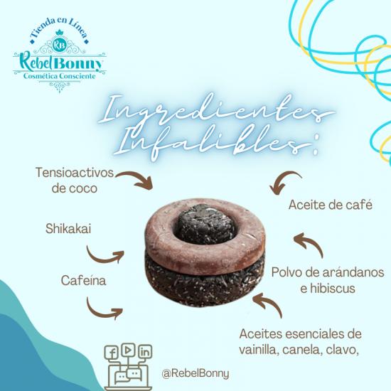 Shampoo Sólido de Café, Arándano e Hibiscus